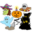 various halloween images 4 vector image