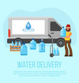 water delivery service character with vector image