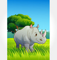 Wild animal set 23 of 32 - rhinoceros vector | Price: 1 Credit (USD $1)