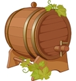 Wine cask vine decorated vector image