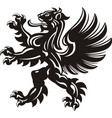 winged lion tattoo vector image vector image