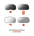 woman wearing virtual reality glasses vector image vector image