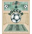 Soccer World Championship Poster vector image