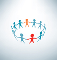 people joined in the ring business concept vector image