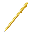 Yellow pen on a white background Isolate vector image