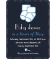 Baby shower invitation card template Invitation vector image
