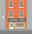 Coffee shop building vector image