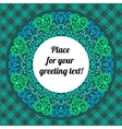 Lace pattern circle background vector image