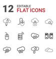 12 computing icons vector image vector image