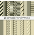 20 seamless striped patterns vector image