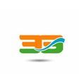 32 anniversary wave logo vector image vector image