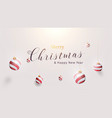 3d christmas ball ornaments hanging gold rope vector image vector image