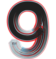 abstract font number 9 vector image vector image
