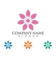 beauty leaf flowers design logo template icon vector image vector image