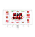 billboard with ads black friday sale sales vector image vector image