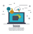 blockchain and bitcoin vector image