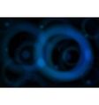 blue circles on black vector image vector image
