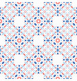 boho pattern blue red ethnic background vector image vector image