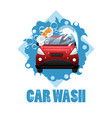 car wash poster vector image