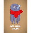 Cartoon octopus sick Bad feeling Wishing a vector image