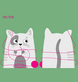 cat with thread vector image vector image