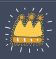 chalked childlike drawing of crown vector image vector image