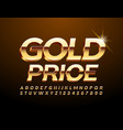 chic tag gold price with 3d premium font vector image vector image