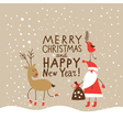 Christmas card with handwritten text vector image vector image