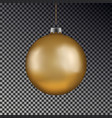 christmas gold ball handing on string xmas vector image