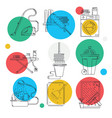 cleaning service line icon set vector image vector image