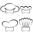 collection of chefs hats vector image vector image