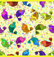 colorful funny birds seamless vector image vector image