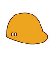 construction helmet isolated icon vector image vector image
