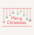 cross stitch merry christmas vector image vector image