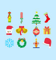 cute christmas set pack vector image