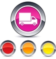 Delivery round button vector image vector image
