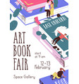 design advertising poster for book fair vector image vector image