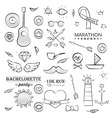 Doodle Sea Hand Drawn Objects Set vector image vector image
