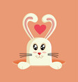 easter bunny cartoon design vector image vector image