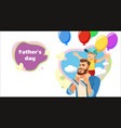 fathers day surprise party cartoon concept vector image vector image