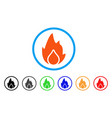 fire and water drop rounded icon vector image