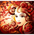 fire lady vector image vector image