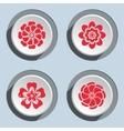 Flower circle icons set Dahlia aster daisy vector image vector image