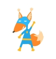 Fox Animal Dressed As Superhero With A Cape Comic vector image vector image