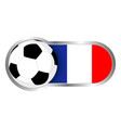france soccer icon vector image vector image