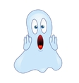 ghost emoticon vector image vector image