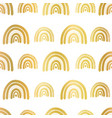 gold foil rainbows seamless repeating vector image vector image