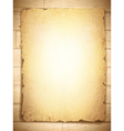 grunge burnt paper vector image vector image