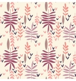 Hand-drawn vintage seamless leaf pattern vector image