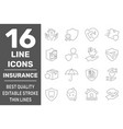 home insurance icons life insurance and vector image